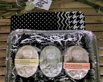 ALL NATURAL Buddha Bath Bombs Citrus Gift Sets-- PURE Relaxation!!