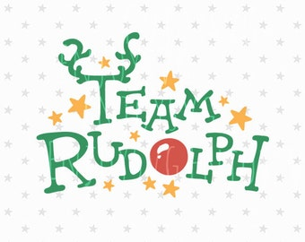 Team Rudolph SVG Christmas Svg File Christmas svg Cut Files Team Rudolph SVG File Cutting Files Silhouette Cameo Cricut svg Winter Svg Files