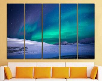 Aurora Canvas Print Aurora Wall Art Northern Lights Wall Decor Northern Lights Canvas Print Aurora Print Wall Art Aurora Photo Aurora Art