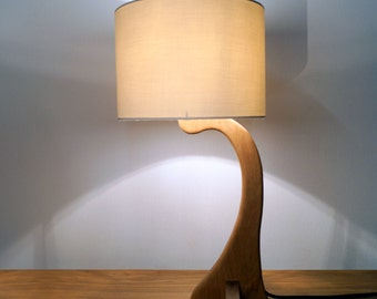 Little Flow handmade oak table lamp