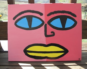 """Shades of Pink Face 14"""" x 18"""" *FREE SHIPPING*"""