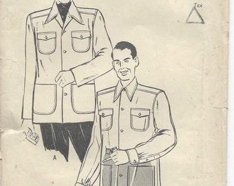 "1940s Vintage Sewing Pattern JACKET B42""-44""-LARGE (R536)"