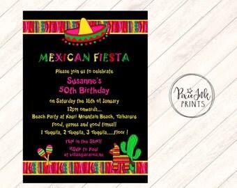 Fiesta Invitation, Cinco De Mayo Party, Margarita Invitation, Margarita Party, Margarita Birthday Invitation, Printable Invitation