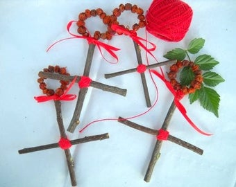 ROWAN CROSS Four Crosses For The Elemental Corners Of Your Dwelling -Protection-Peace Of Mind