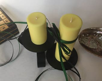Honeysuckle Scented Soy Wax Pillar Candles