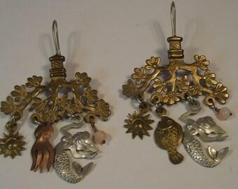 Bohemian dangle chandelier earrings