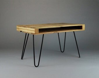 Upcycled Pallet Wood Coffee Table w/ Hairpin legs