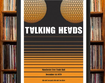 Talking Heads Concert Poster