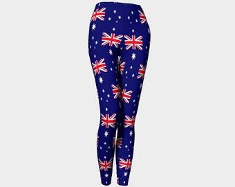 Australian flag leggings, Australian proud, Australia flag, Australia pants, Australia leggings, Australia day, Aussie flag, Ozzie flag