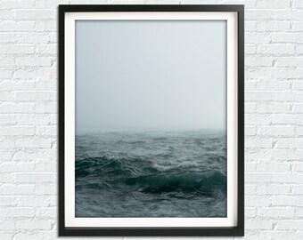 Ocean Photography Print, Ocean Print, Ocean Waves Art Print, Large Modern Print, Ocean Wall Art, Blue Wave Print, Water Print, Ocean Art