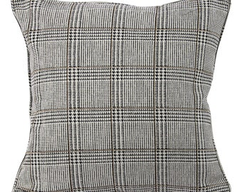 Gray Houndstooth Decorative Pillow Cover 20 Inch and Lumbar