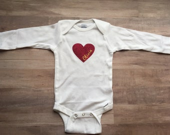 Customizable heart onesie