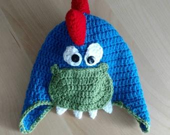 Dino Hat- Boys Winter Hat- Dinosaur Hat-Spiky Dino Beanie-Girls Dino Hat