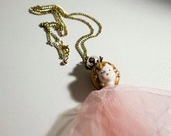 Vintage Doll Head Necklace