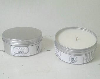 Coconut retained fragrance candle