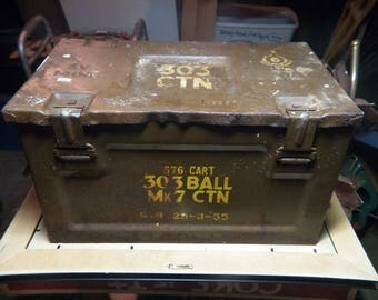British WWII 303 ball MK7 Carton ammo box