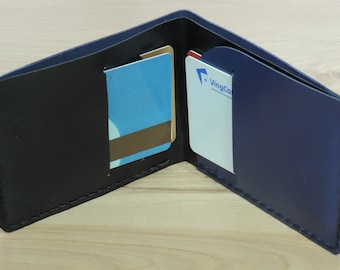 Slim Wallet 2, leather wallet mens, handmade minimalist kangaroo leather wallet with unique features