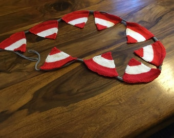Austrian flag knitted bunting