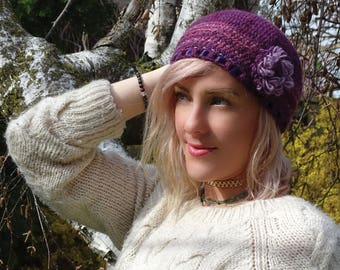 Wool handmade hat