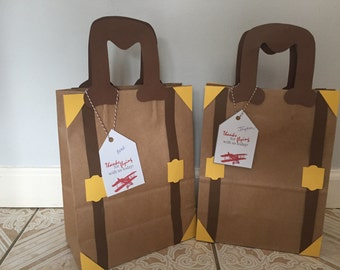 Luggage favor bags