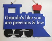Engraved MDF train / Fathers day gift / Dad / Grandad & other options available / Hanging or Freestanding