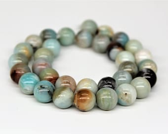 Multi Color Amazonite Round Loose beads 6/8/10/12mm