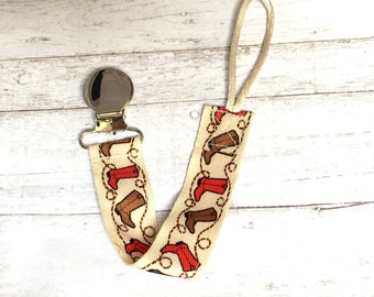 Cowboy Boot Binky Leash