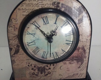 Small clock/ victorian lady