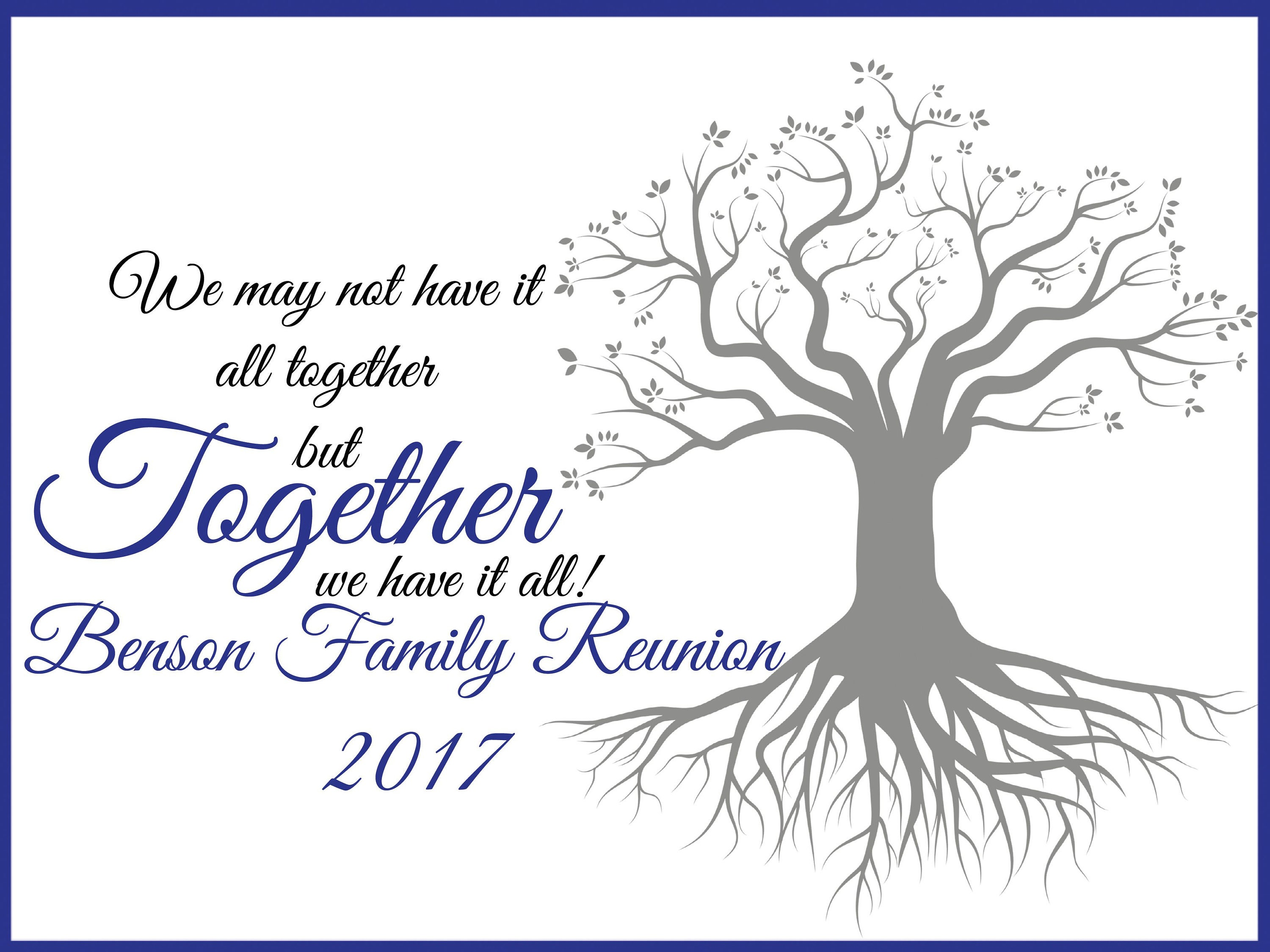 Large personalized family reunion banner family tree banner for Reunion banners design templates