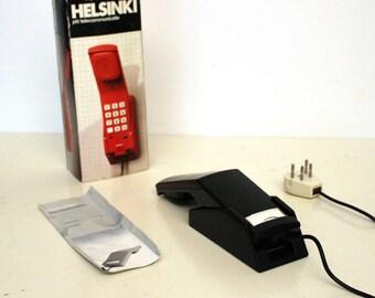 PTT 21-1271 black wall phone type Helsinki, 1985