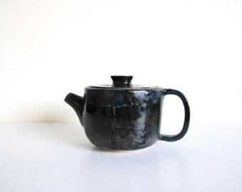Ceramic Teapot 600ml  - Blue Black
