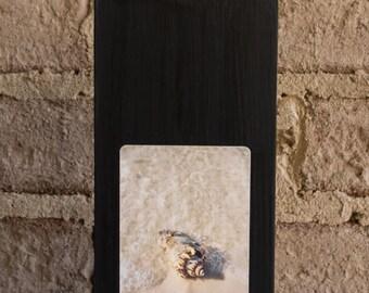 walk on a beach fine art on wood display - paperweight