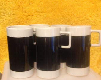Vintage Braniff Airline coffee cupts