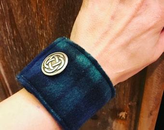 Blackwatch Plaid Celtic Cuff Bracelet
