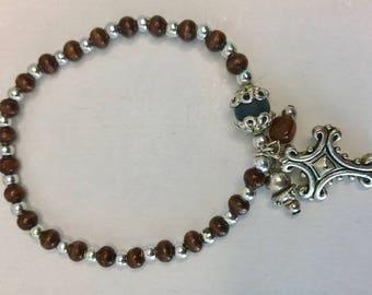 Vintage wood bead bracelet