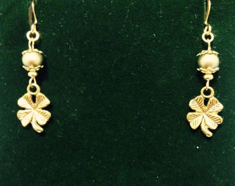 The Limerick  Lady Four Leaf Clover Earrings