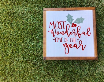 Wonderful Time Of The Year | Christmas Sign