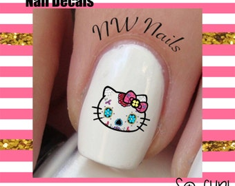 Sugar Skull  Nail Art Decals *Dia De Los Muertos Day of the Dead Sugar Skulls