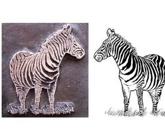 zebra stamp inspired printing stamp