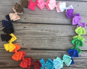 Hair Bows School Bows  / 1.00 Bows / Set of 20