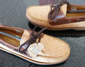 Leather with Cork Vela Shoes - Portuguese Handmade -Top quality!