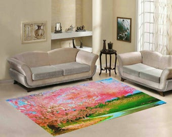 Area Rug 7' x 5' +3 other sizes -Bubblegum Brook- FREE Shipping