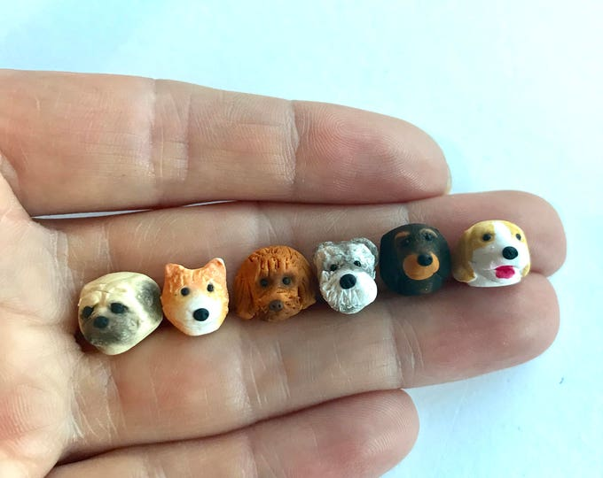Adorable Personalised Custom Dog Earrings made to order - choose your dog