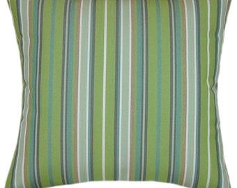 Sunbrella Foster Surfside Indoor/Outdoor Striped Pillow