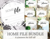 HOME FILE - Home Management Binder printables - Home Maintenance - Chores - Meal Planning - Budgeting - Holidays - Family - (A4 & Letter)