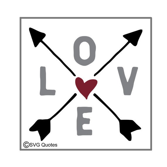Love Arrows Svg Dxf Eps Cutting File For Cricut Explore Amp More