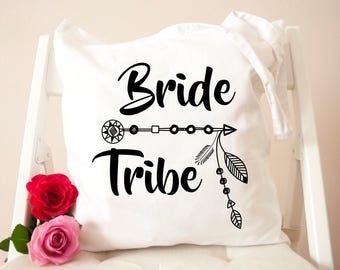 Personalised Bride Tribe Tote Bag - Hen Do - Wedding - Team Bride - Bride - Bridesmaid Stylish Cotton Bag - Bridal Party Bags - Hen do bags