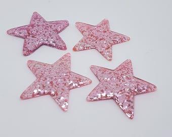 Pink glitter star needle minder