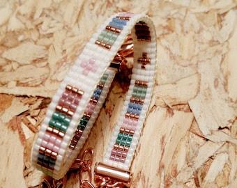 Woven beaded bracelet No. 10