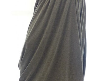 Gray long skirt, Casual skirt, Gray skirt, Gray skirt plus size, Grey long skirt, Grey skirt, Grey skirt plus size, Maxi women skirt